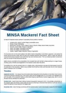 MINSA Mackerel Fact Sheet