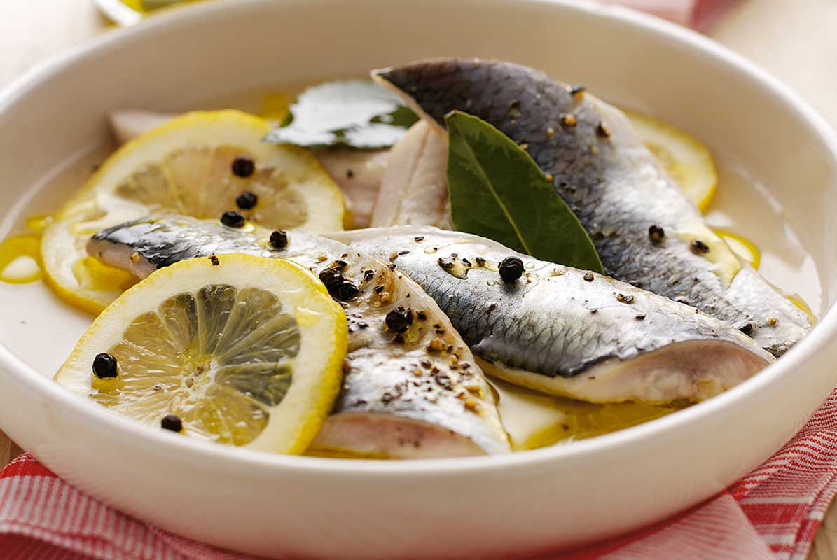 Fresh Herrings in Amalfi Lemon
