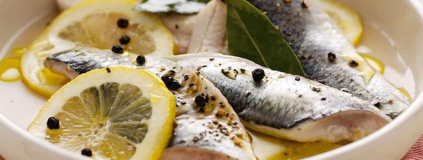 Fresh Herrings in Amalfi Lemon
