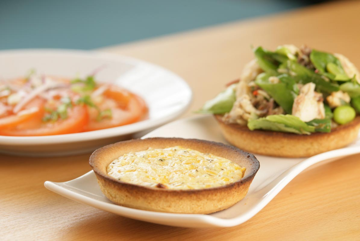 Mackerel and Cheese Tarts with Mackerel Salad