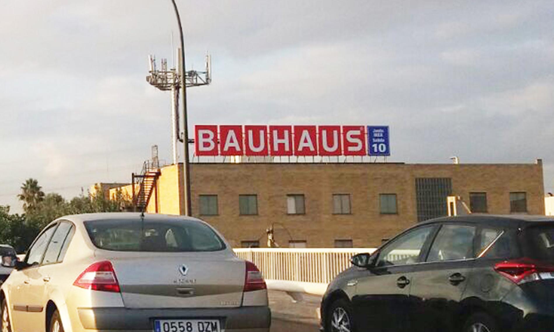 Rótulo en Azotea Bauhaus