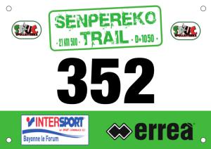 SENPEREKO TRAIL 2016 Dossards