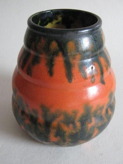 Arnhemse fayence oranje vaas