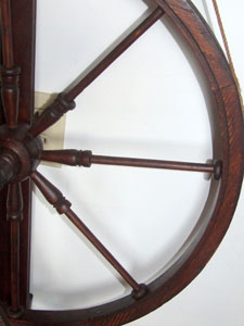 Detail of spokes with rings