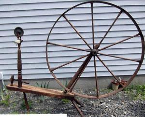 """Wheel marked """"N. R. HILLS"""""""