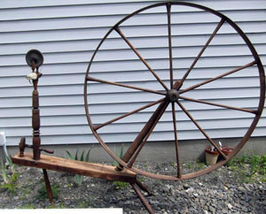 "Wheel marked ""N. R. HILLS"""