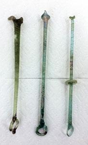 Ancient glass distaffs