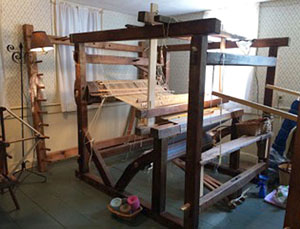 Early 19th century four-post loom Diane used for her apprenticeship.