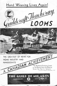 Cover of Guildcraft-Thackeray Looms Brochure, c. 1938