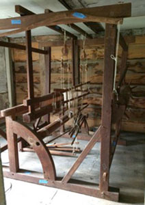 Loom at James House, in Hampton, NH. House was built by a weaver Benjamin James in 1723.