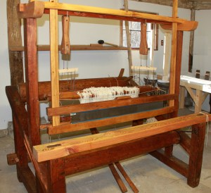 Restored French Canadian loom belonging to Carlisle [MA] Historical Society.
