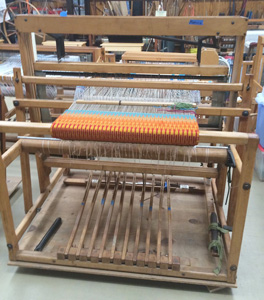 "Binder large floor loom with 8 shafts and 10 treadles ""Binder Precision Action"" loom."