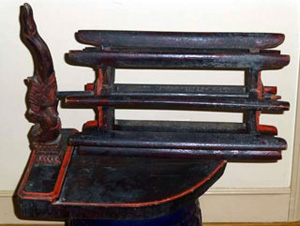 Traditional reel for silk used by Khmer weavers.