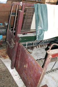 Deen loom to be repaired in the collection of Neal and Nellie Springer.