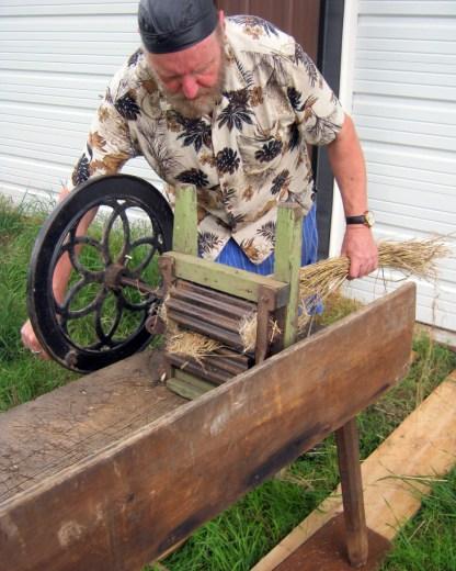 Bro. Christian turning rotary brake.