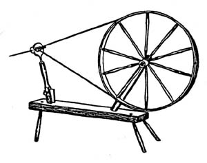 Wheel with horizontal spindle alignment.
