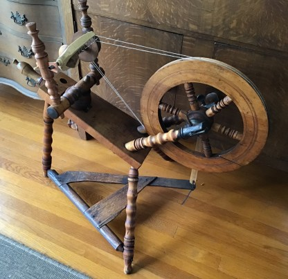 Restored Ernst Mechelke German-style flax wheel