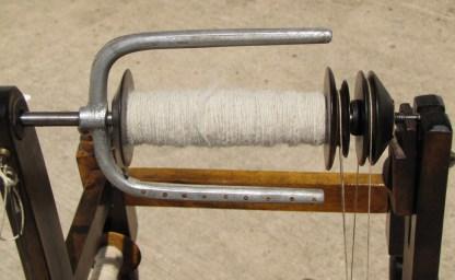 Detail of Spin-Well bobbin/flyer unit