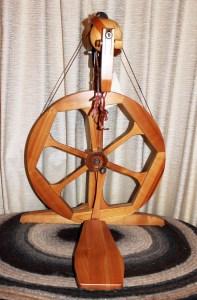 Humanus-Haus spinning wheel front view.