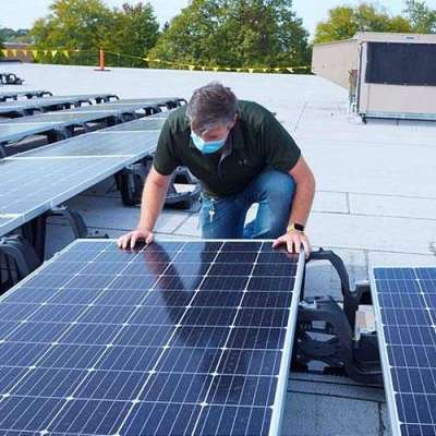 Rolling Meadows site now home to Northrop Grumman's largest on-site solar energy system