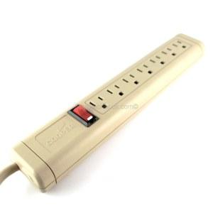 Recording US 7 Way 110v Socket Strip-5357