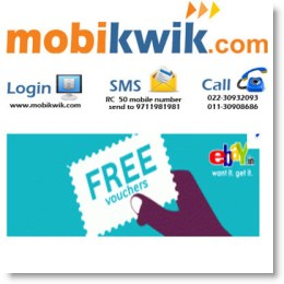 Mobikwik October Cashback Promo Codes
