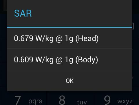 Check SAR of phone