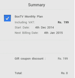 BoxTV free 1 month coupon