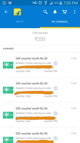 flipkart appshare earning proof
