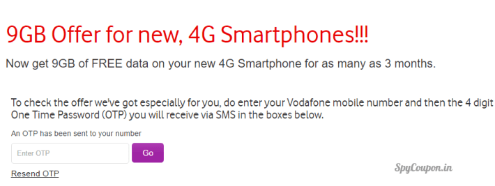 vodafone 9gb offer details