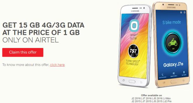 airtel 15gb at price of 1gb