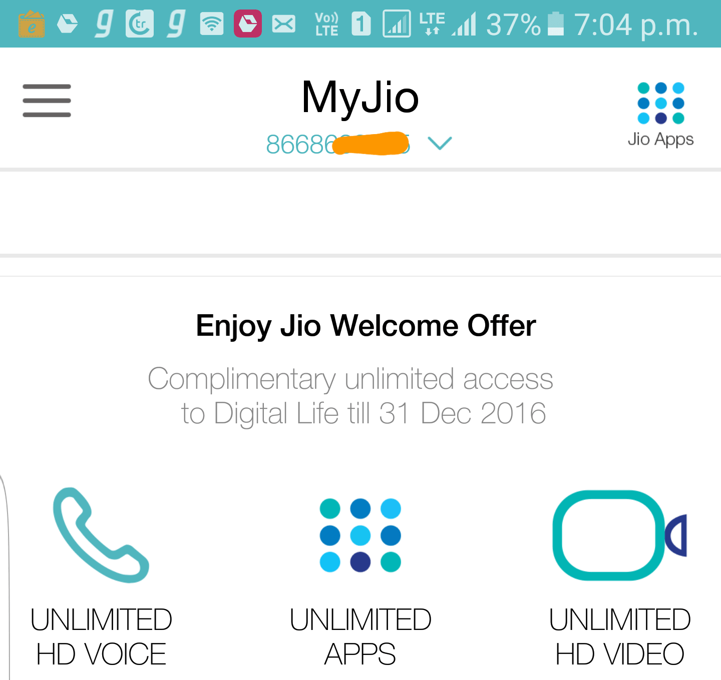 what is my jio number