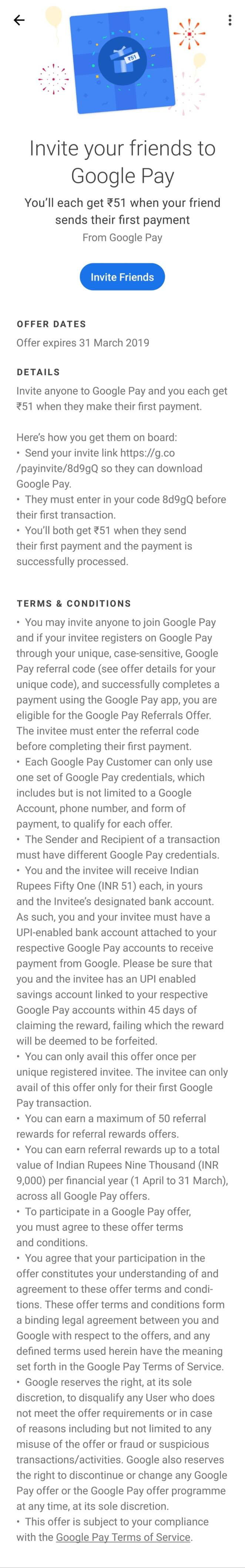 Tez referral terms & conditions