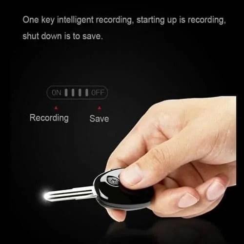 hidden voice recorder in a car key
