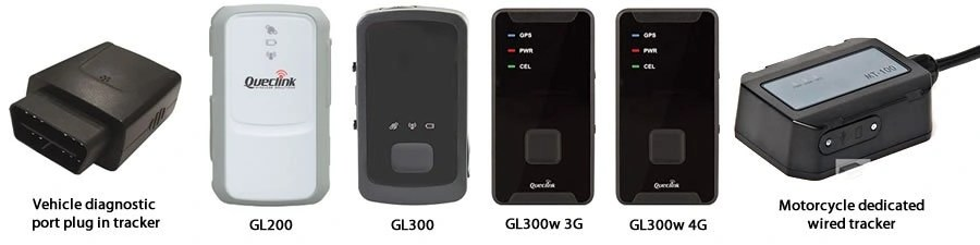 Supported GPS tracking devices.
