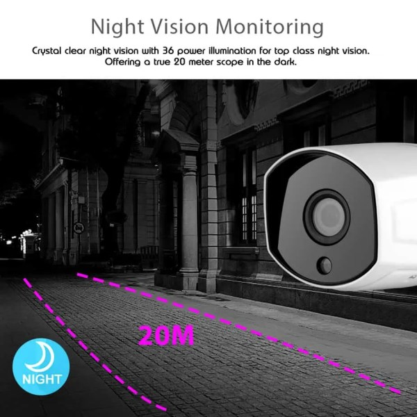 clear night vision CCTV zoom camera