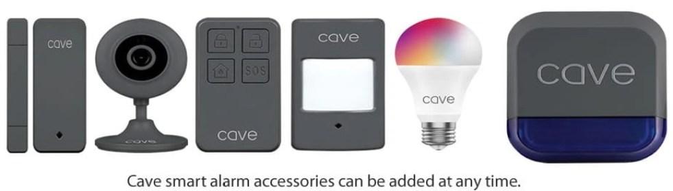 Cave intruder alarm accessories list