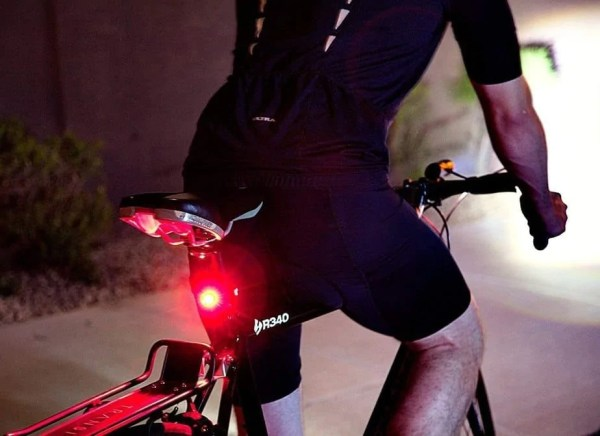 Bicycle back light with gps tracker