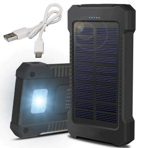 Solar power recharger with flash light
