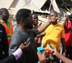Alfred Oko Vandepuje at the scene