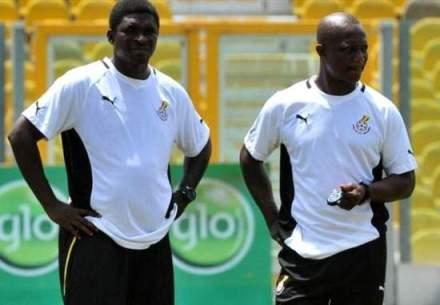 Maxwell Konadu with his boss Kwesi Appiah