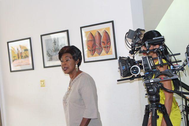 Grace Omaboe aka Maame Dokono getting ready for the camera