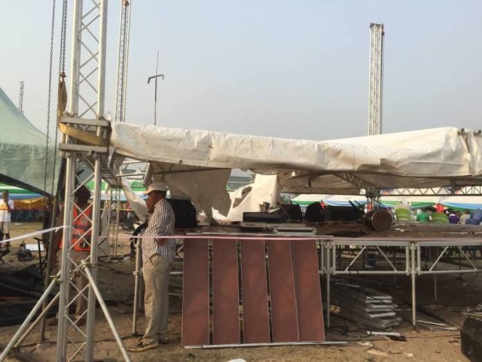 Destroyed items at the planned rally ground [6]