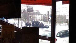 Scenes of Friday's shooting incident in Paris.
