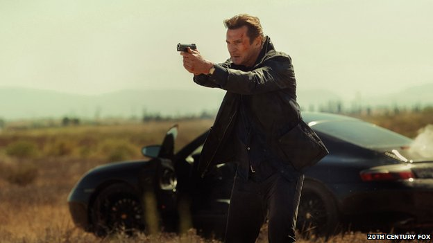 Taken 3 sees Neeson's ex-CIA agent Bryan Mills framed for the murder of a loved one