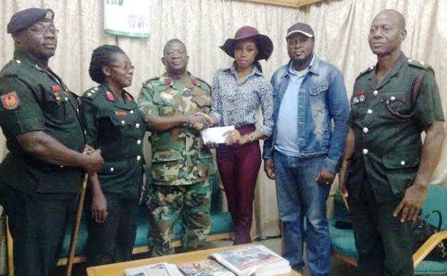 Stephanie Karikari donates to 37 Military Hospital