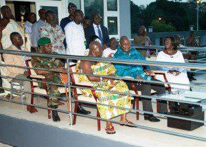 President John Mahama and Otumfuo Osei Tutu II jointly inuagurate the Rattray Park