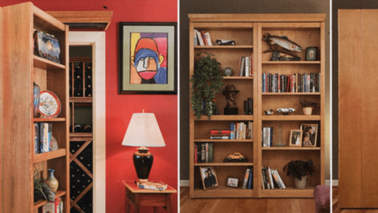 Bookcase Door Hides Your Secret Room Spy Goodies