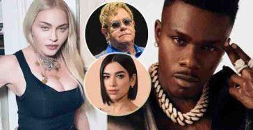 """Madonna, Elton John e Dua Lipa attaccano il rapper DaBaby omofobo: """"La ragione per cui viviamo in un mondo di ignoranti sono le persone come te"""""""