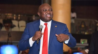 'Who am I to speak after Jagaban?' — Ambode sparks laughter at launch of Jim Ovia's book